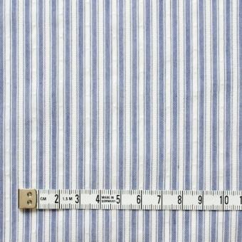 コットン&ポリ混×ストライプ(ブルー)×からみドビー サムネイル4