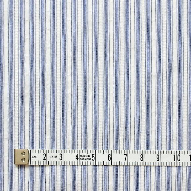 コットン&ポリ混×ストライプ(ブルー)×からみドビー イメージ4