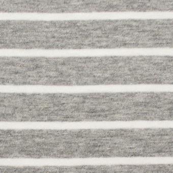 コットン×ボーダー(ライトグレー)×天竺ニット_全2色 サムネイル1