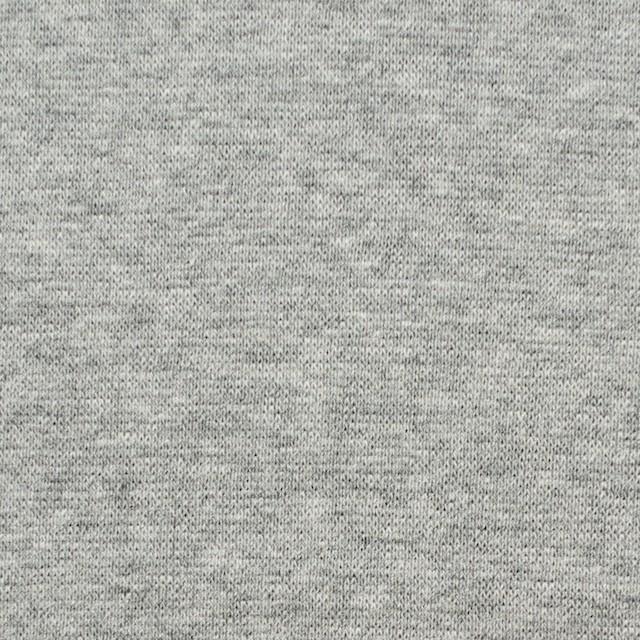 コットン×無地(ライトグレー)×スムースニット イメージ1
