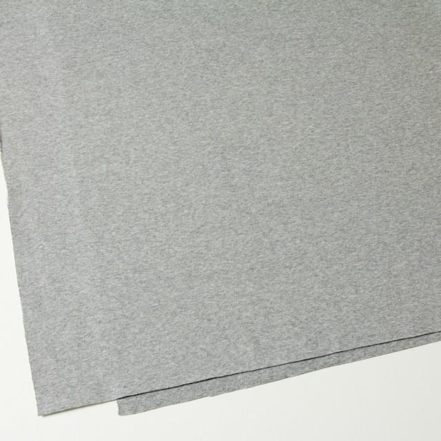 コットン×無地(ライトグレー)×スムースニット イメージ2