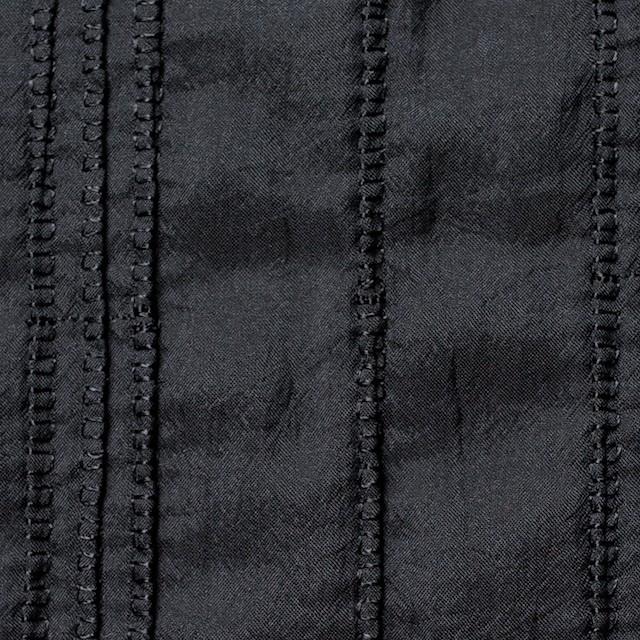 ナイロン&コットン×無地(ブラック)×ボイル&ガーゼ_全3色 イメージ1