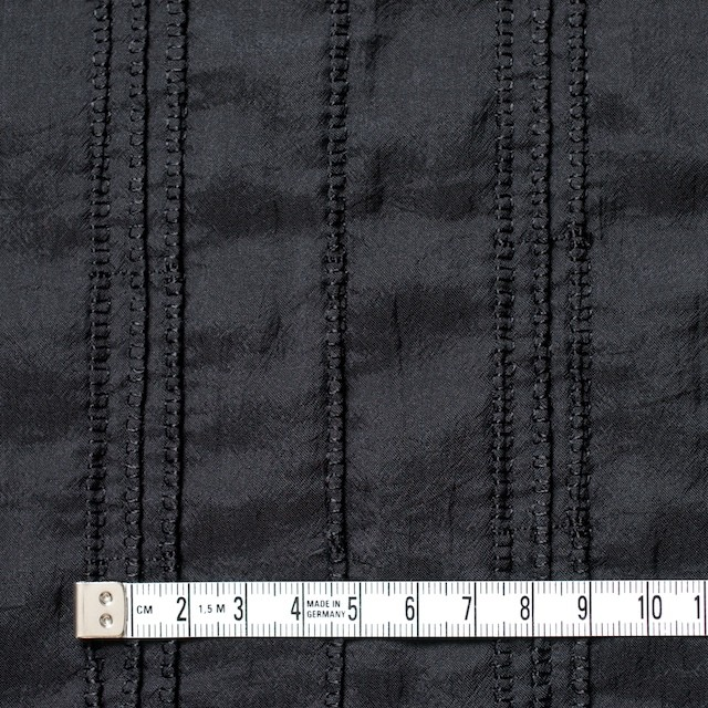 ナイロン&コットン×無地(ブラック)×ボイル&ガーゼ_全3色 イメージ4