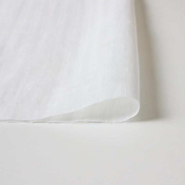 リネン×無地(ホワイト)×からみ織 イメージ3