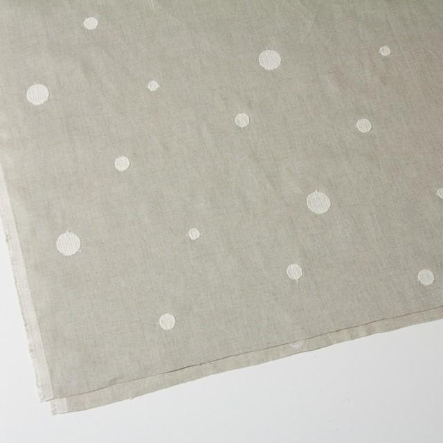 リネン×ドット(グレイッシュベージュ)×薄キャンバス刺繍 イメージ2