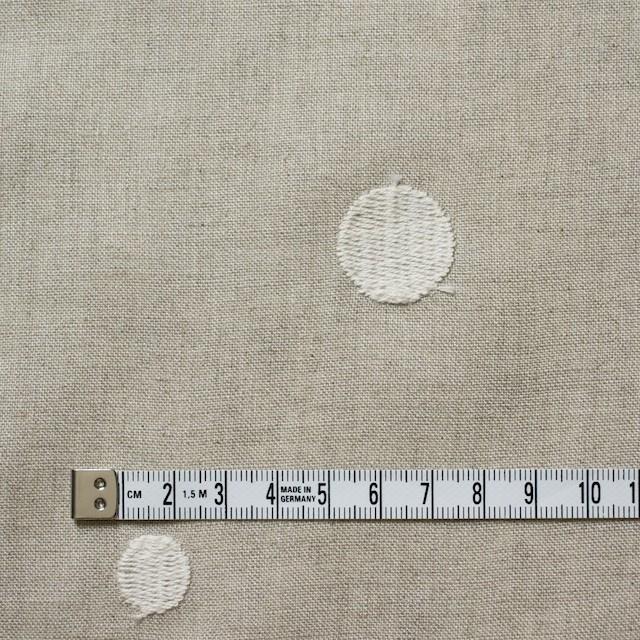 リネン×ドット(グレイッシュベージュ)×薄キャンバス刺繍 イメージ4