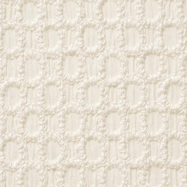 コットン×オーバル(アイボリー)×ヨウリュウ刺繍 イメージ1