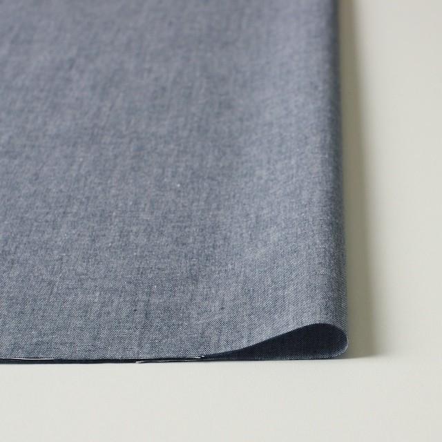 コットン×フラワー(ブルー)×ダンガリー刺繍_全2色 イメージ3