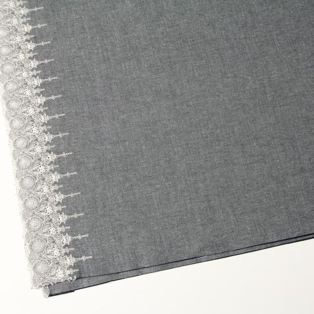 コットン×フラワー(ネイビー)×ダンガリー刺繍_全2色 イメージ2