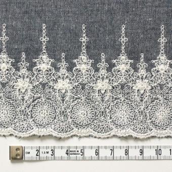 コットン×フラワー(ネイビー)×ダンガリー刺繍_全2色 サムネイル4