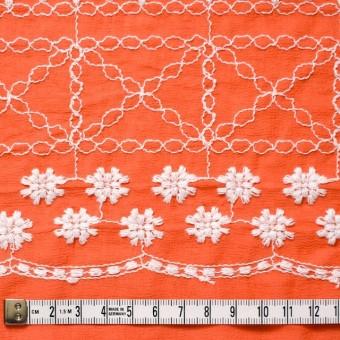 コットン×フラワー(オレンジ)×ヨウリュウ刺繍 サムネイル4