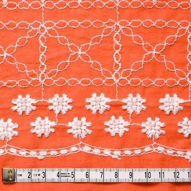 コットン×フラワー(オレンジ)×ヨウリュウ刺繍 イメージ4