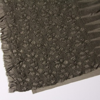 コットン×フラワー(カーキグリーン)×ローンシャーリング刺繍 サムネイル2