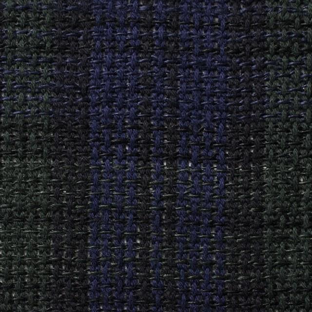 コットン×チェック(ブラックウォッチ)×かわり織 イメージ1