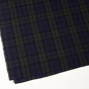 コットン×チェック(ブラックウォッチ)×かわり織 サムネイル2
