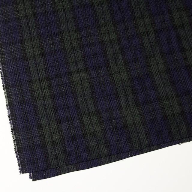 コットン×チェック(ブラックウォッチ)×かわり織 イメージ2