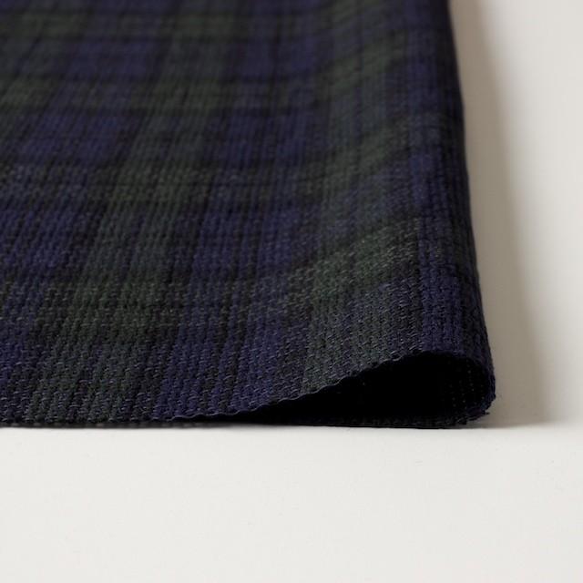 コットン×チェック(ブラックウォッチ)×かわり織 イメージ3