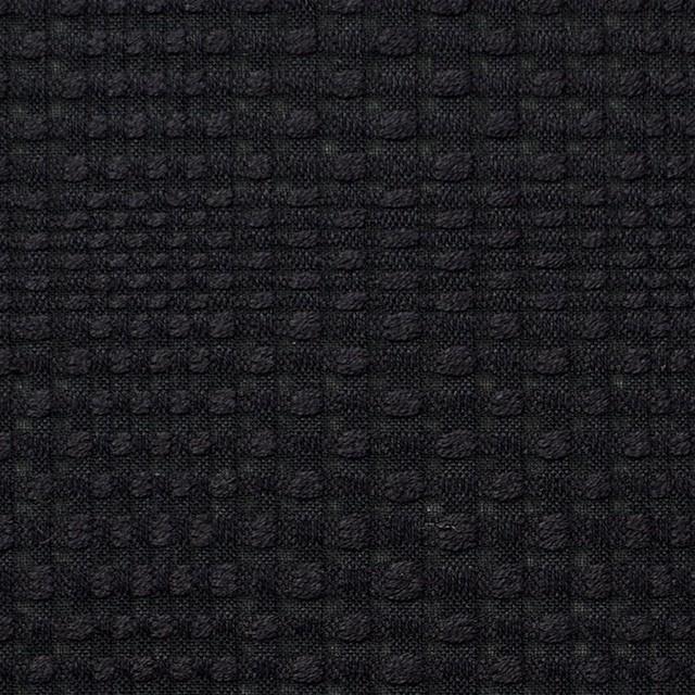 コットン×チェック(ブラック)×からみ織 イメージ1