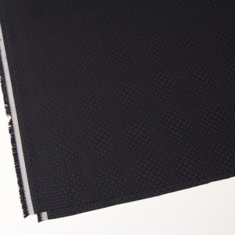 コットン×チェック(ブラック)×からみ織 サムネイル2