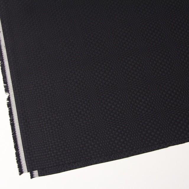 コットン×チェック(ブラック)×からみ織 イメージ2