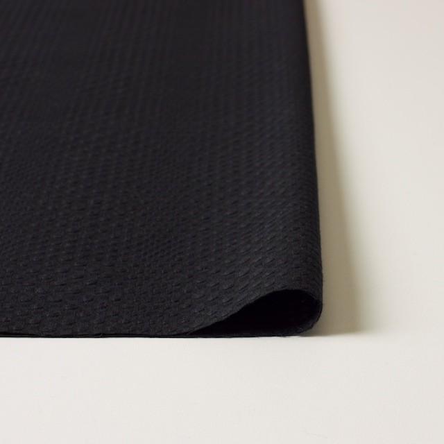 コットン×チェック(ブラック)×からみ織 イメージ3
