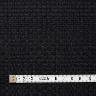 コットン×チェック(ブラック)×からみ織 サムネイル4