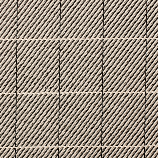 シルク&コットン×チェック(キナリ&ブラック)×かわり織 イメージ1