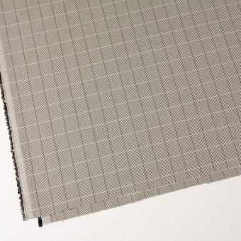 シルク&コットン×チェック(キナリ&ブラック)×かわり織 サムネイル2