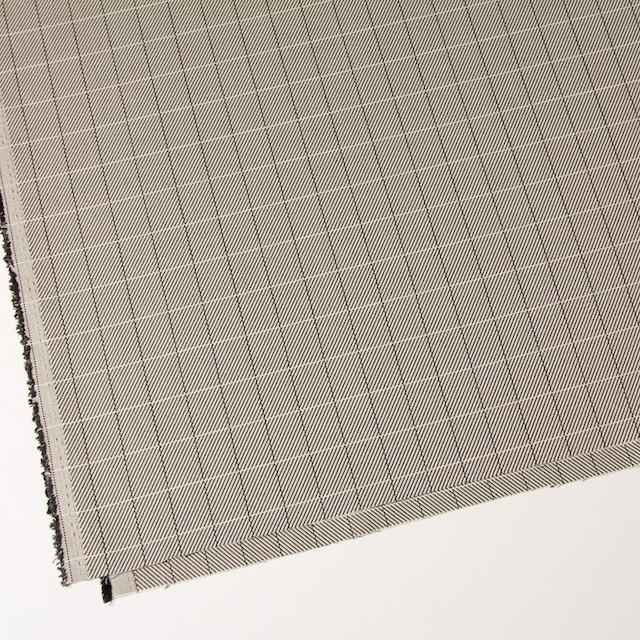 シルク&コットン×チェック(キナリ&ブラック)×かわり織 イメージ2
