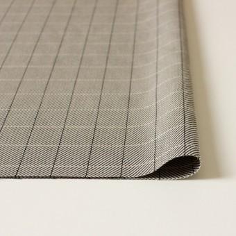 シルク&コットン×チェック(キナリ&ブラック)×かわり織 サムネイル3