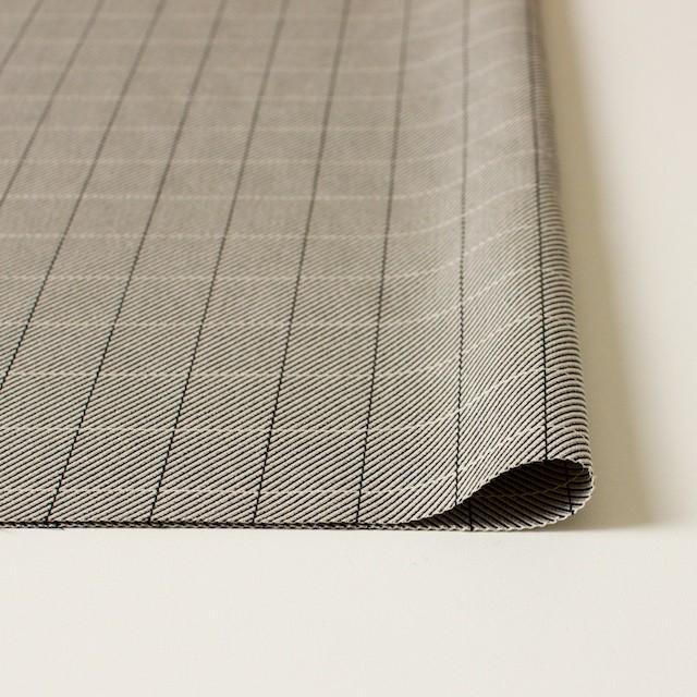 シルク&コットン×チェック(キナリ&ブラック)×かわり織 イメージ3