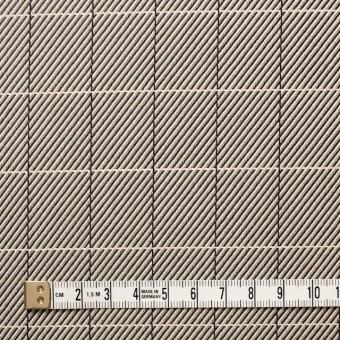 シルク&コットン×チェック(キナリ&ブラック)×かわり織 サムネイル4