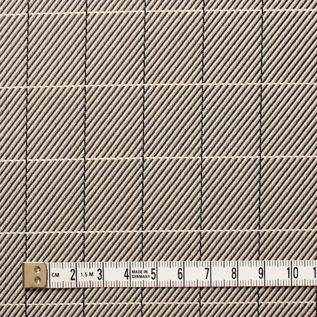 シルク&コットン×チェック(キナリ&ブラック)×かわり織 イメージ4