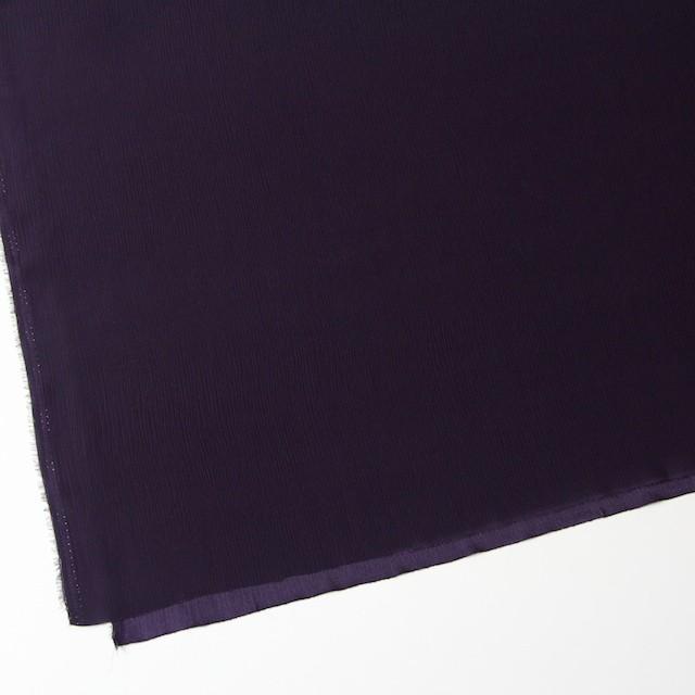 シルク×無地(ダークパープル)×バックサテンジョーゼット イメージ2