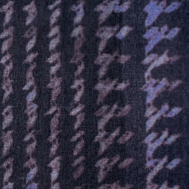 シルク×幾何学模様(パープル)×オーガンジー イメージ1