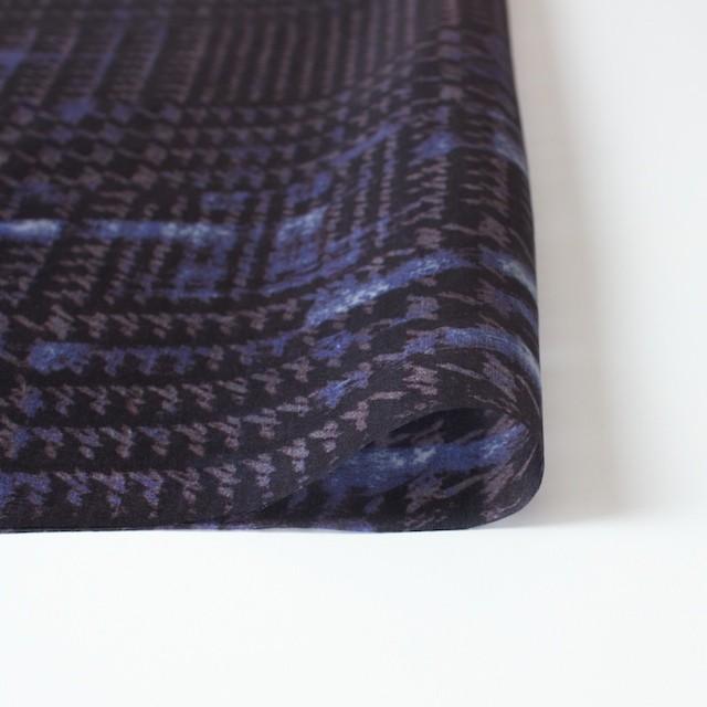 シルク×幾何学模様(パープル)×オーガンジー イメージ3