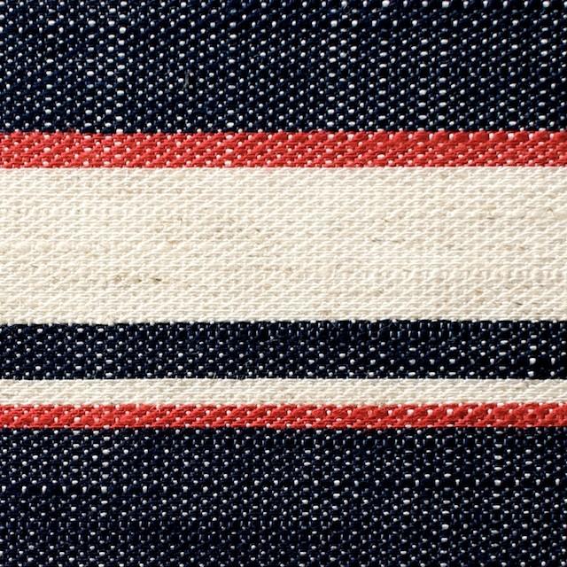 リネン&コットン混×ボーダー(トリコロール)×かわり織 イメージ1