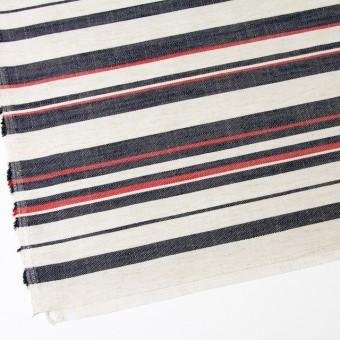 リネン&コットン混×ボーダー(トリコロール)×かわり織 サムネイル2