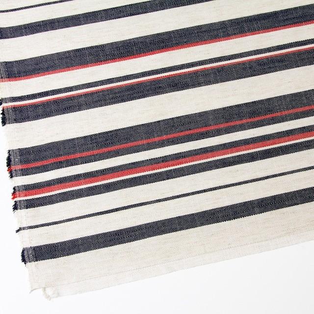 リネン&コットン混×ボーダー(トリコロール)×かわり織 イメージ2
