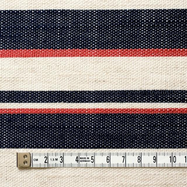 リネン&コットン混×ボーダー(トリコロール)×かわり織 イメージ4
