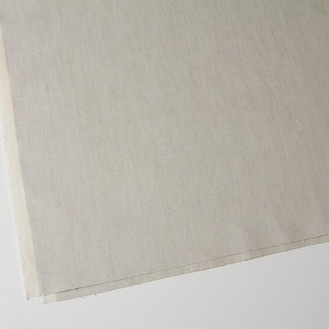 リネン&コットン混×無地(グレイッシュベージュ)×オックスフォードストレッチ イメージ2