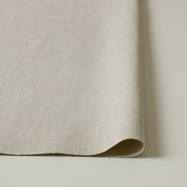 リネン&コットン混×無地(グレイッシュベージュ)×オックスフォードストレッチ イメージ3