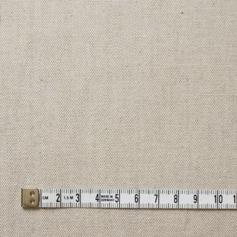 リネン&コットン混×無地(グレイッシュベージュ)×オックスフォードストレッチ サムネイル4