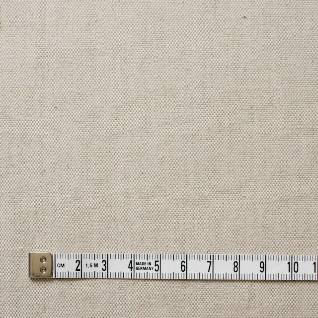 リネン&コットン混×無地(グレイッシュベージュ)×オックスフォードストレッチ イメージ4