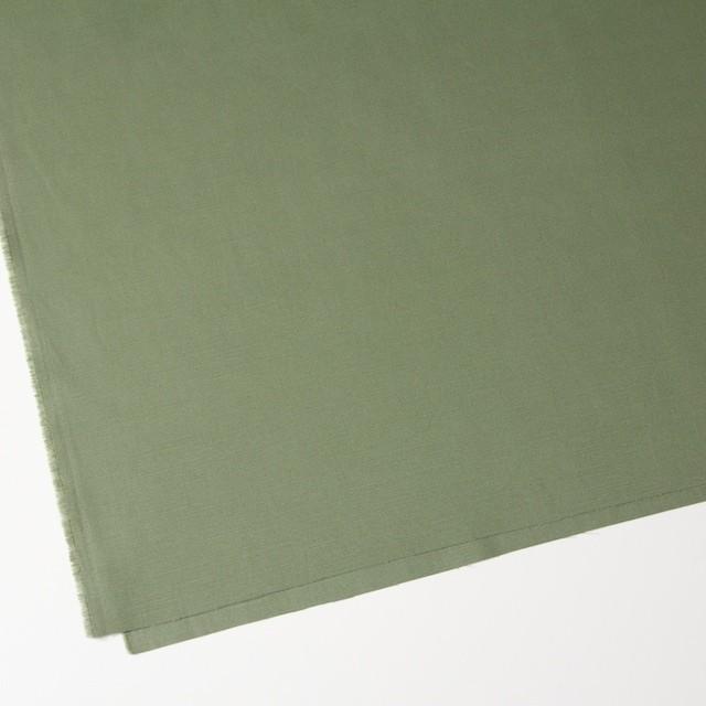コットン×無地(カーキグリーン)×かわり織 イメージ2