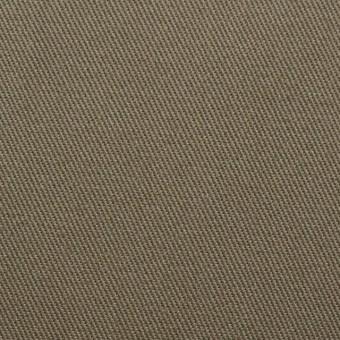 コットン&ポリウレタン×無地(カーキ)×カツラギストレッチ サムネイル1