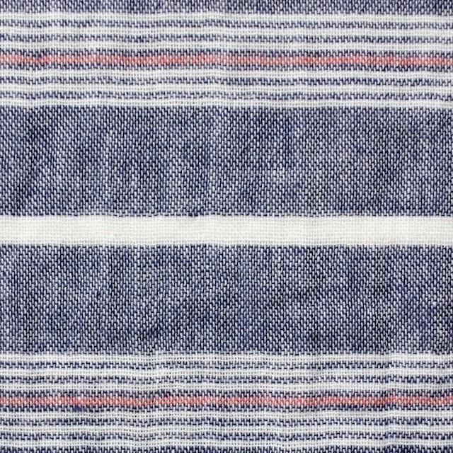 コットン×ボーダー(ブルー×トリコロール)×Wガーゼ_全4柄 イメージ1