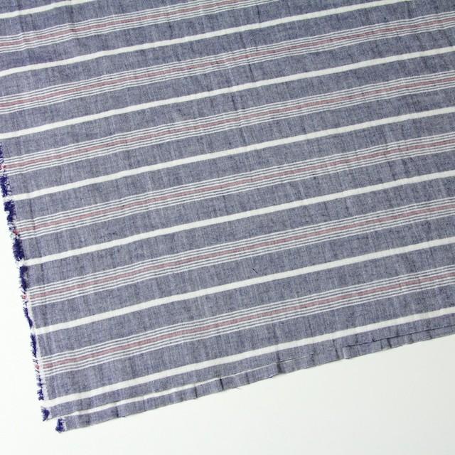 コットン×ボーダー(ブルー×トリコロール)×Wガーゼ_全4柄 イメージ2