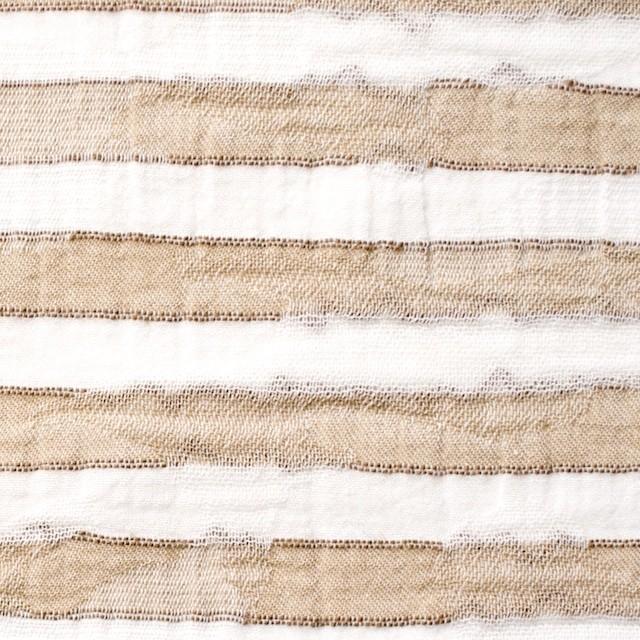 コットン×ボーダー(ベージュ)×迷彩ジャガード_全2色 イメージ1