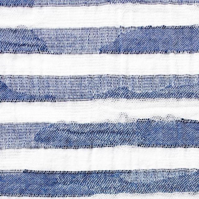 コットン×ボーダー(ブルー)×迷彩ジャガード_全2色 イメージ1